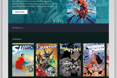 DC UNIVERSE read comic books streaming service