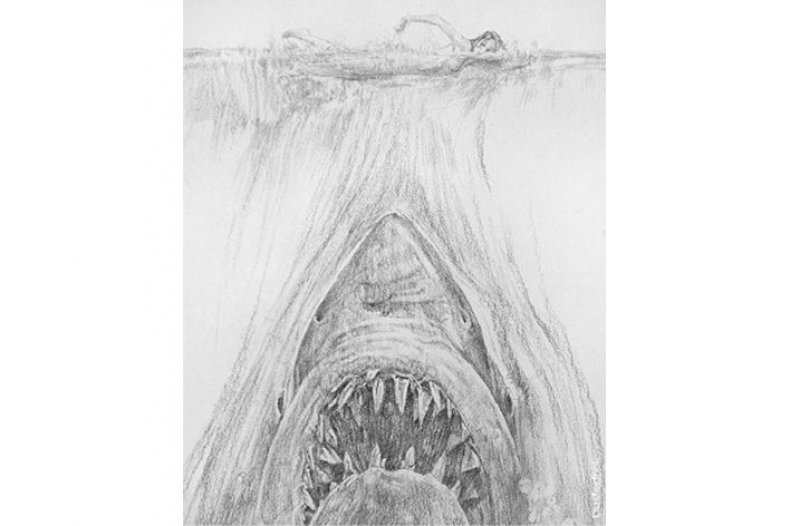 Jaws poster sketch