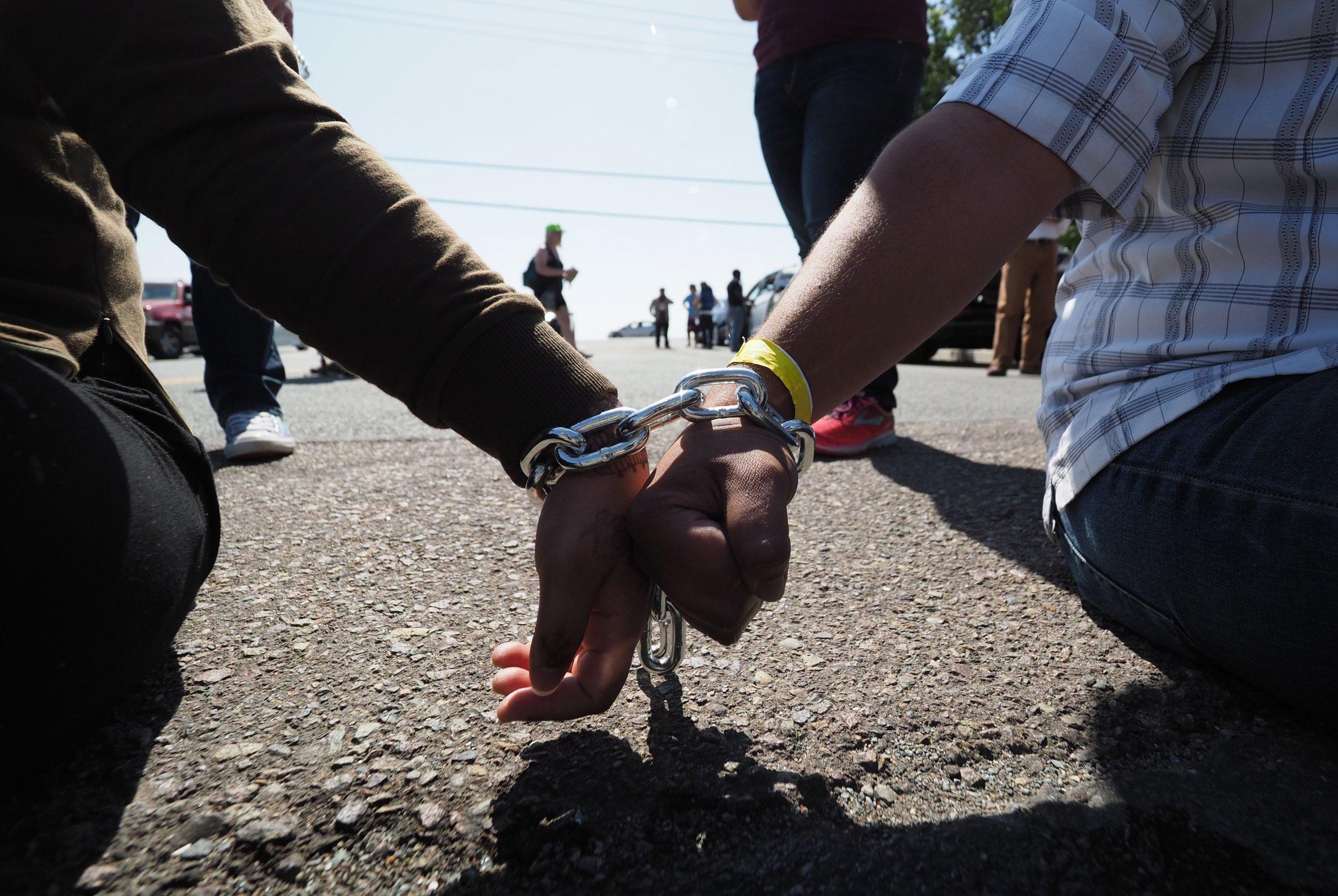 Detention Center protest