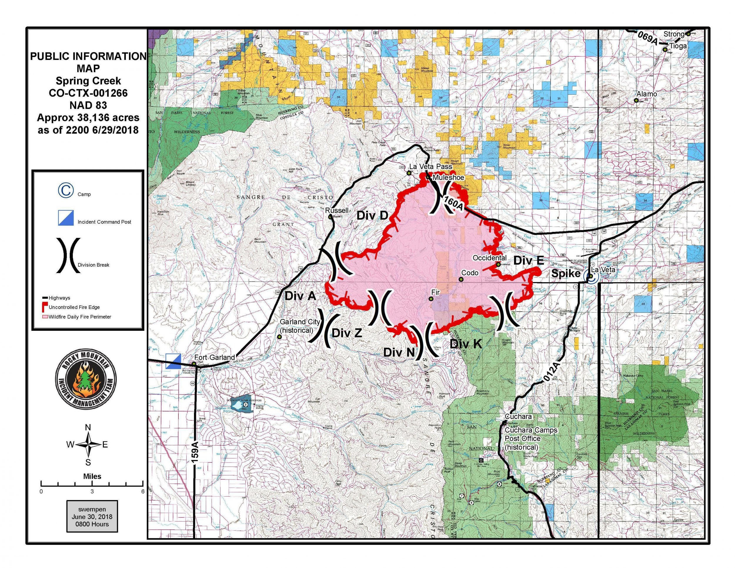 Spring Fire Map: Colorado Wildfire Grows To 38,000 Acres, Arson