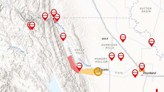 Fire Map California July 2018.California Wildfires Yolo County Fire Map Blaze Spreads To