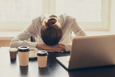 Coffee-woman-office-tired-stock