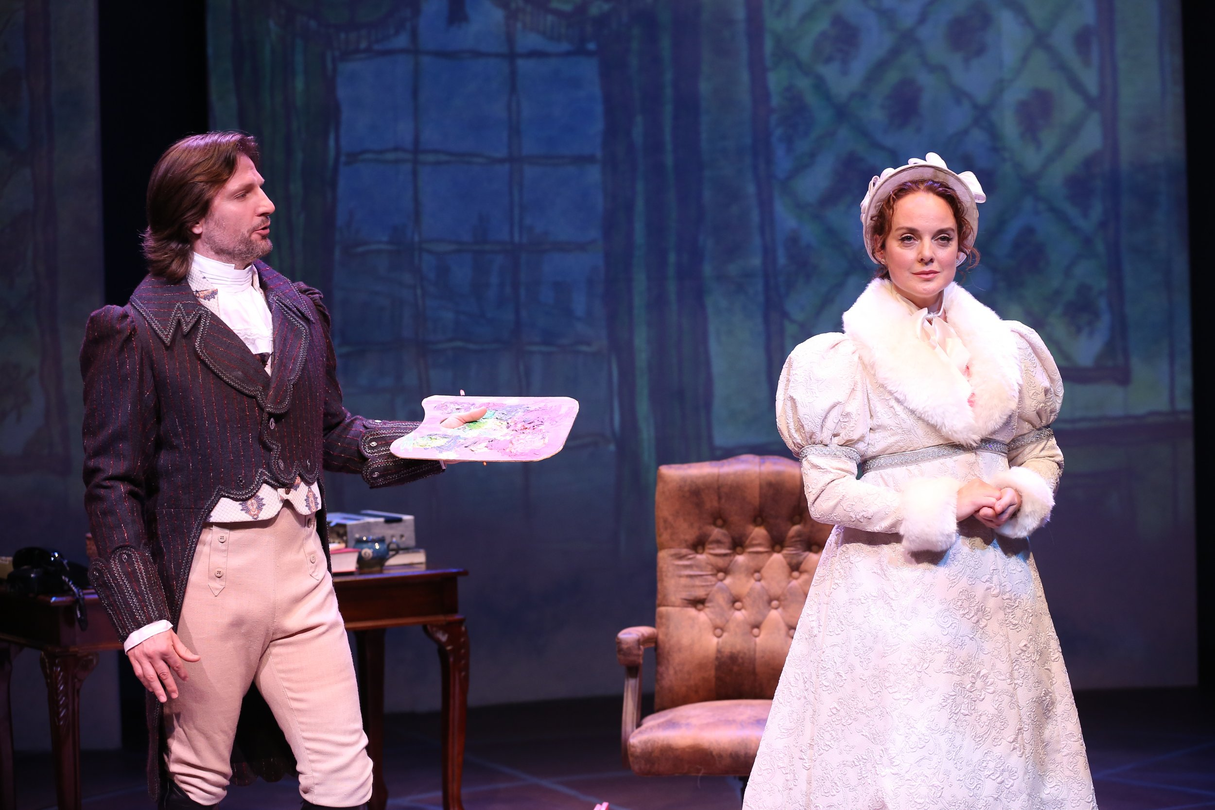 John Cudia and Melissa Errico in Irish Rep's ON A CLEAR DAY YOU CAN SEE FOREVER - Photo by Carol Rosegg (1)