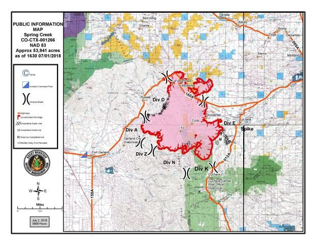 Colorado Fires July 2018 Update 416 Fire Spring Creek Fire And