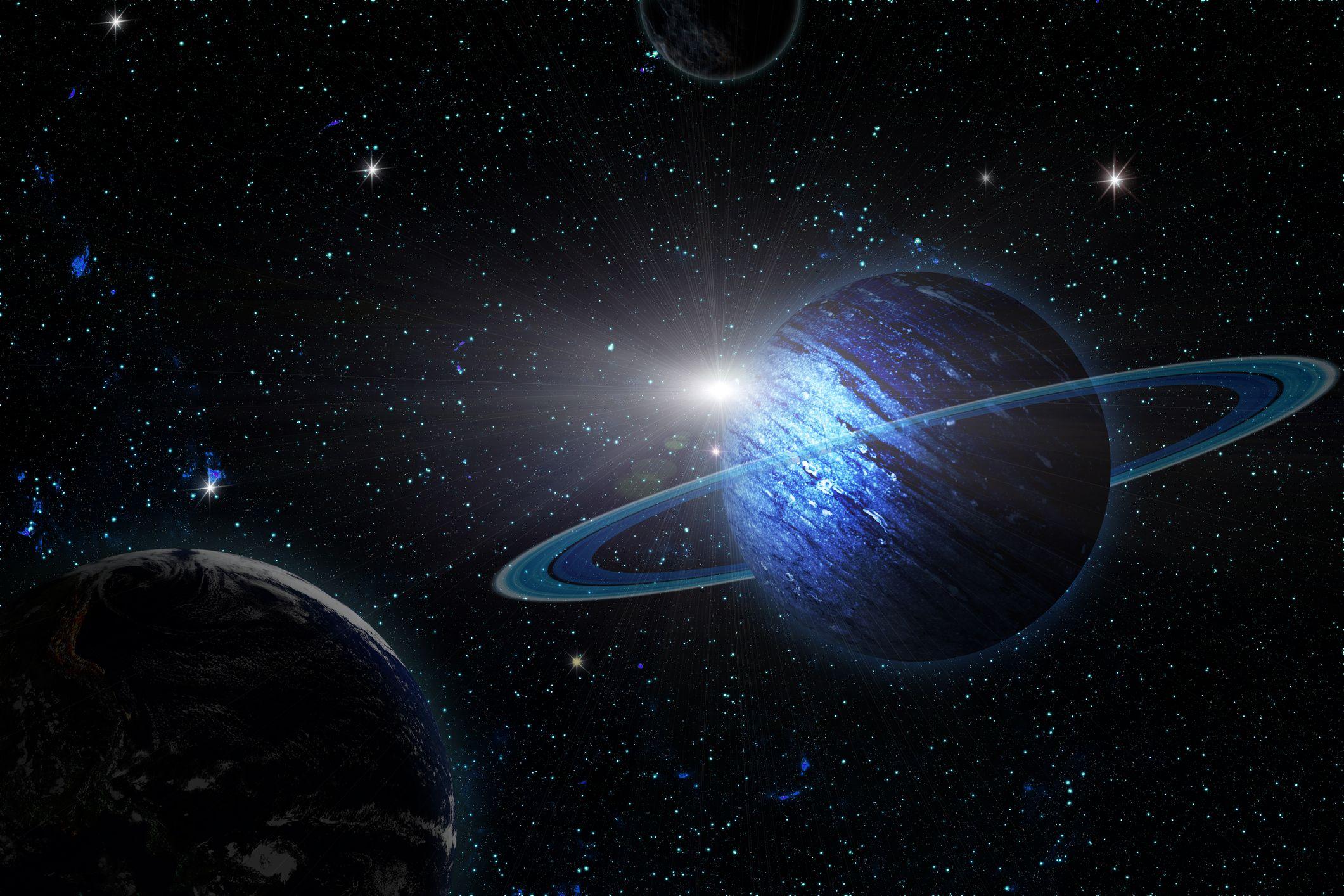 Uranus Cataclysmic Collision Gave Planet Its Moons