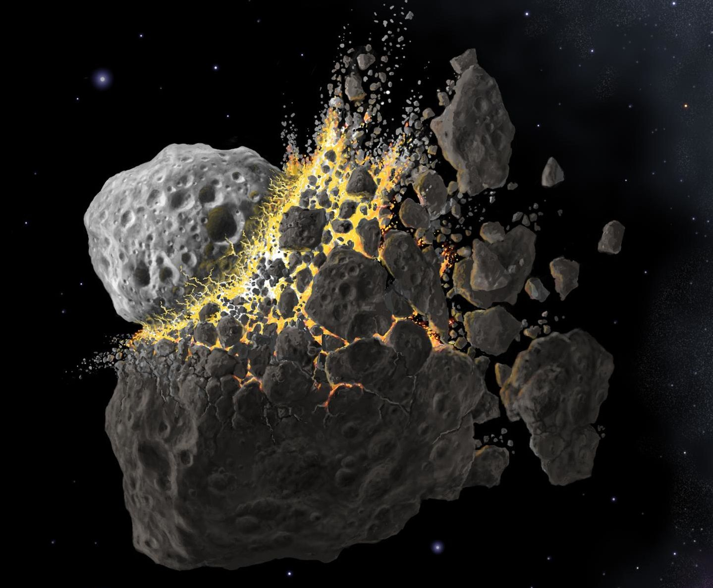 biggest asteroid in the solar system collided with earth - photo #28