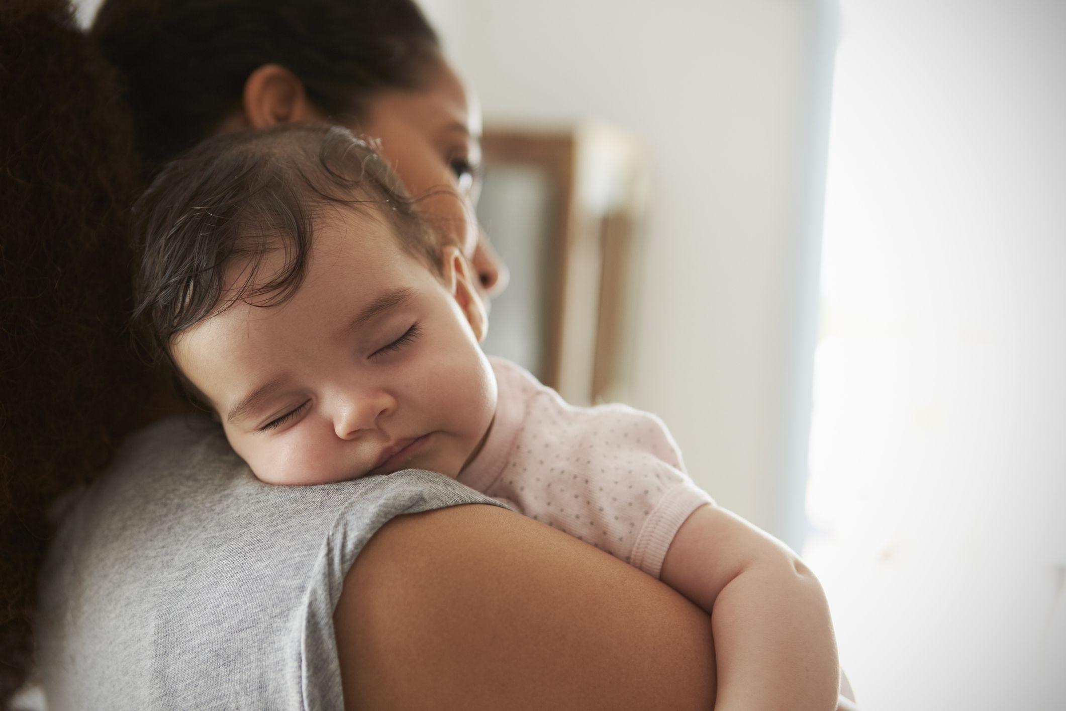 baby-mother-parent-sleep-stock