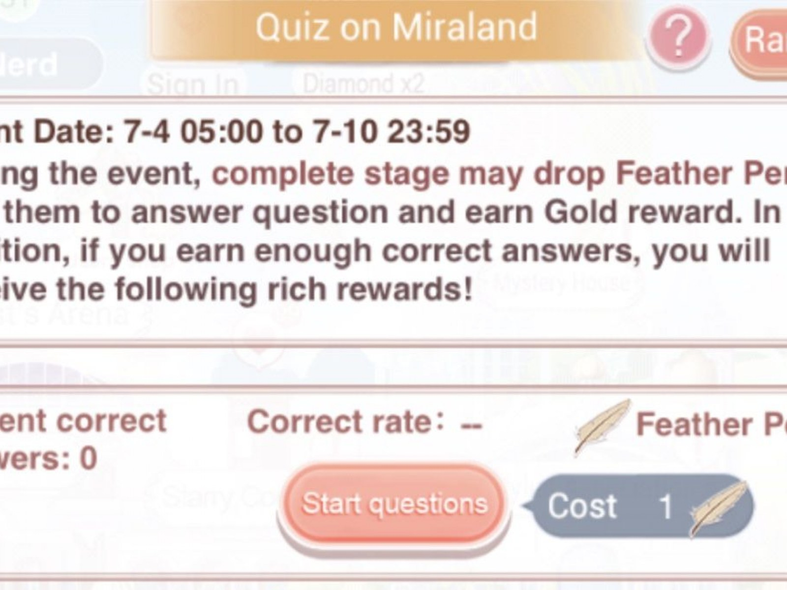 Love Nikki' Miraland Quiz Answers: Guide to All Questions in