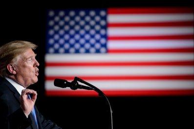 Donald Trump American flag