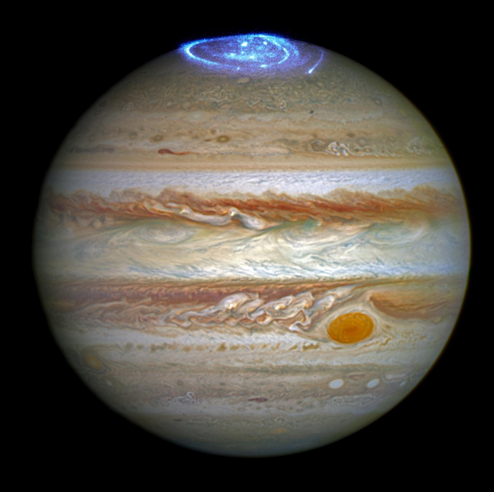 Jupiter's moons shape the planet's violent auroras