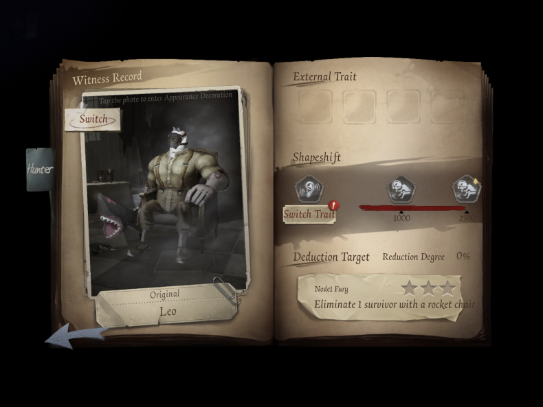 identity v hunter profile