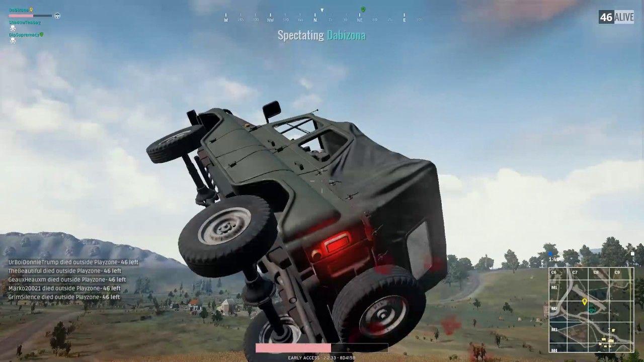 PUBG Flying car