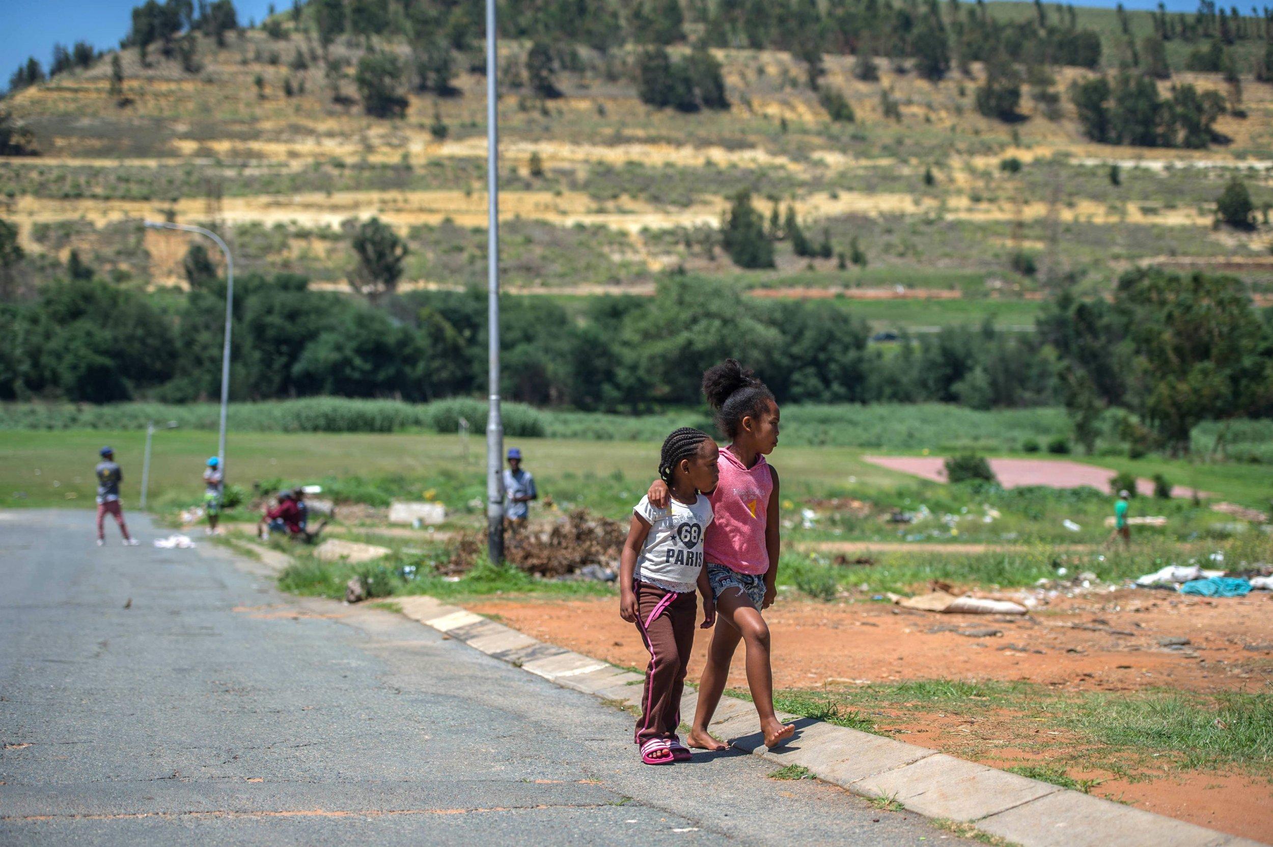 Children Walking in South Africa