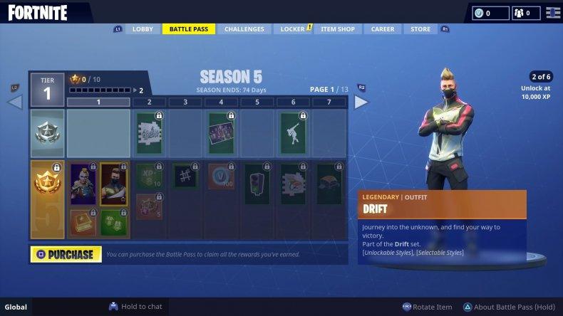 Fortnite Season 5 Drift Skin