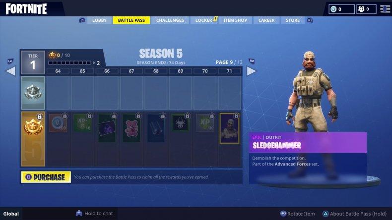 Fortnite Season 5 Sledgehammer Skin