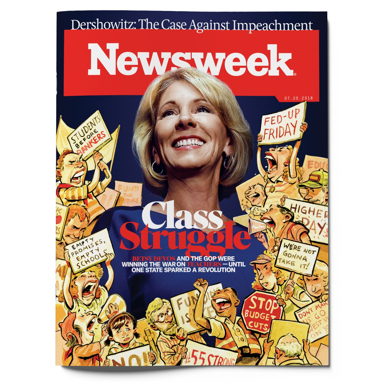 3d78d18d9656 Illustrations by Britt Spencer for Newsweek  Photo Illustration by  Picturebox Creative for Newsweek  Photograph of DeVos by Matt McClain The  Washington ...