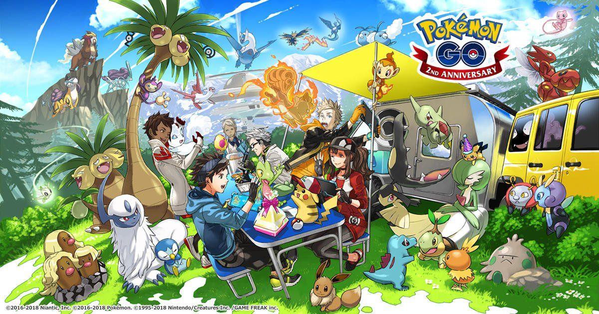 pokemon go gen 4 second anniversary artwork