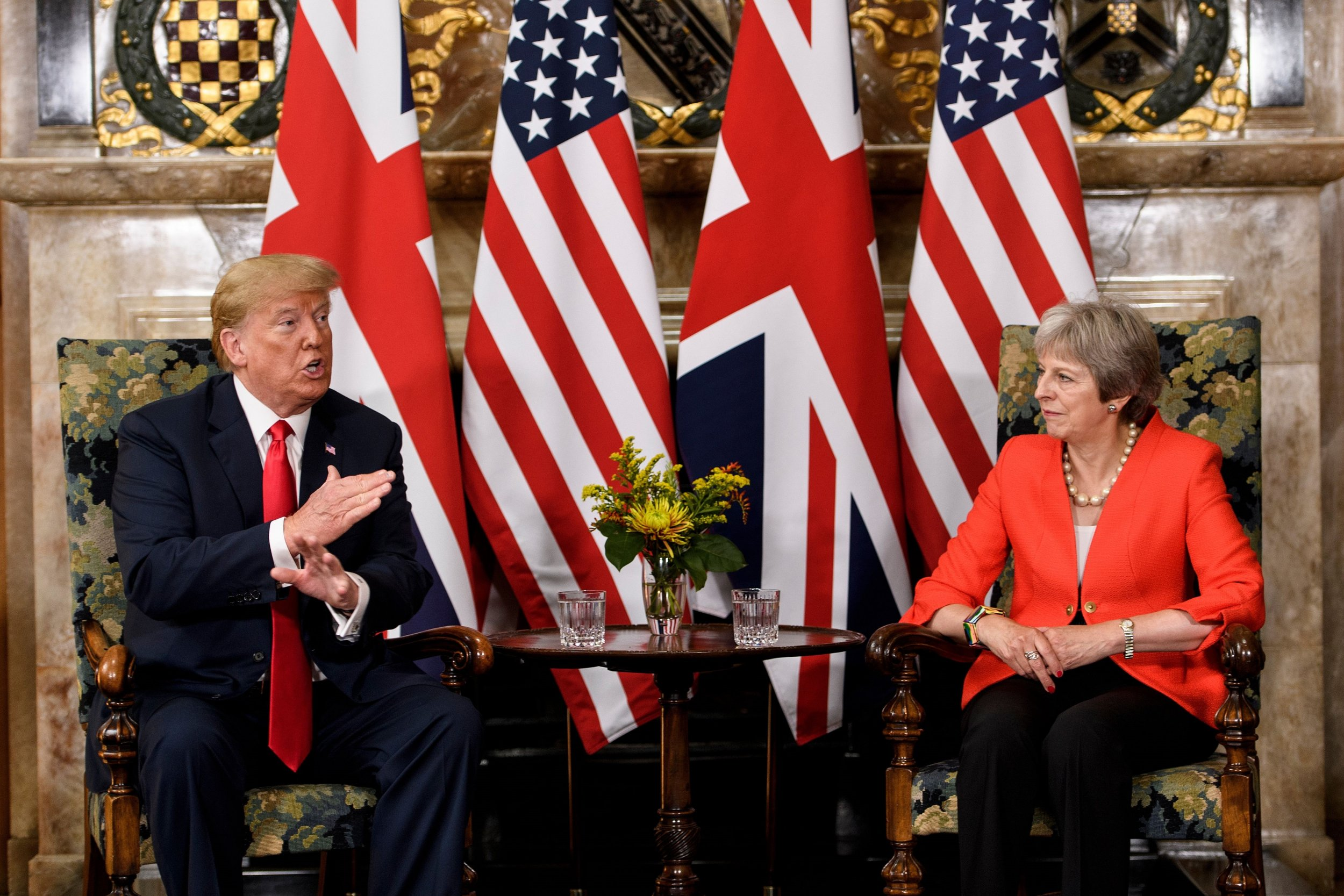 video  theresa may rolls eyes as trump is asked about sun