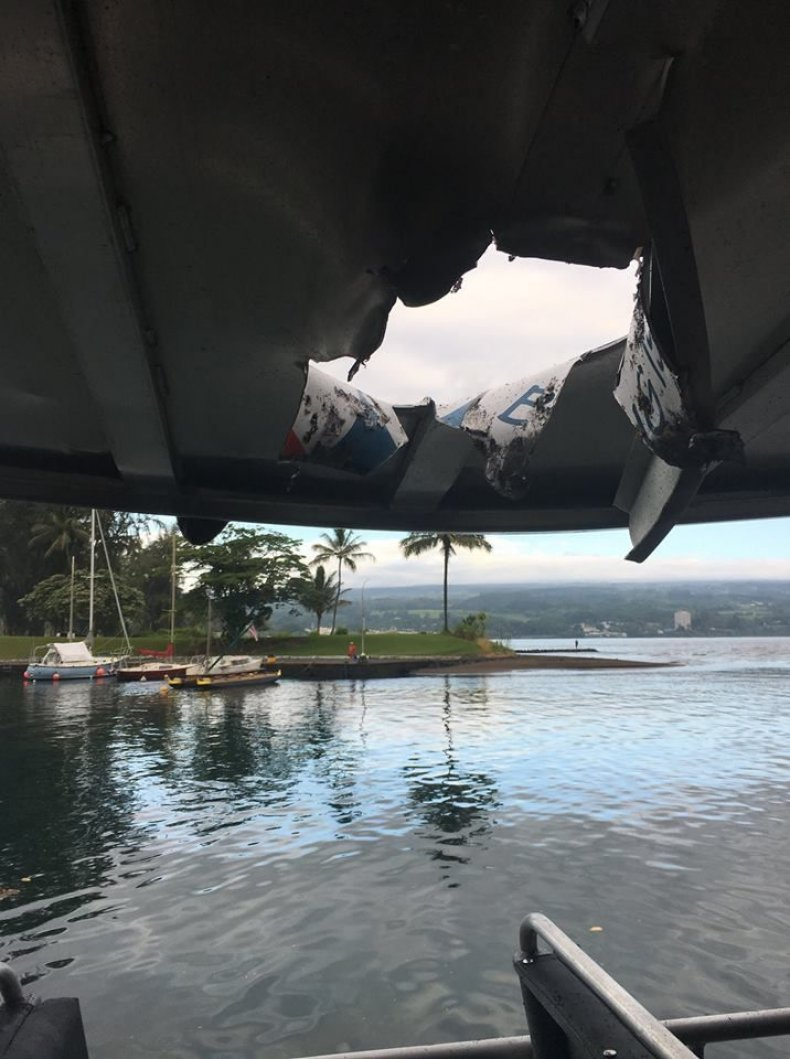 boat roof hole