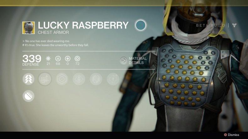 Destiny 2 Lucky Raspberry