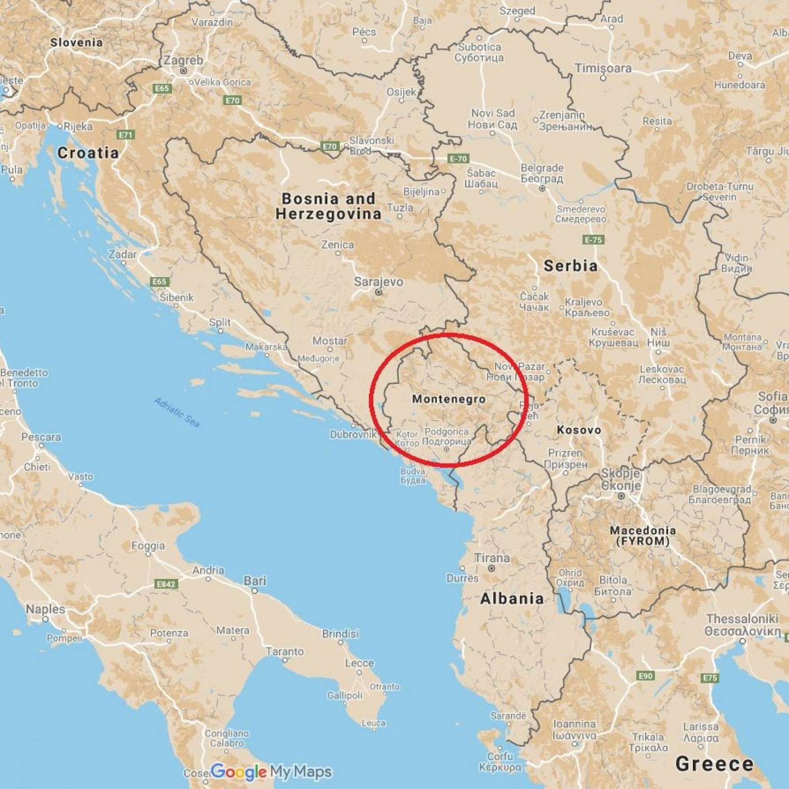 Map Of Montenegro Where Is Montenegro? Trump Puts Tiny NATO State on the Map
