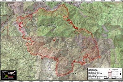 ferguson fire map 7/18