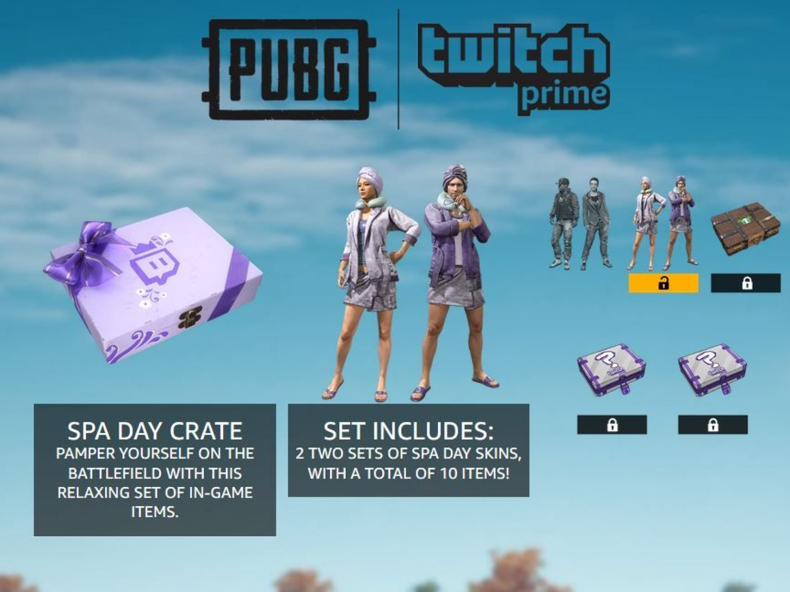 PUBG' Spa Day Crate Twitch Prime Loot Live - Items & How to