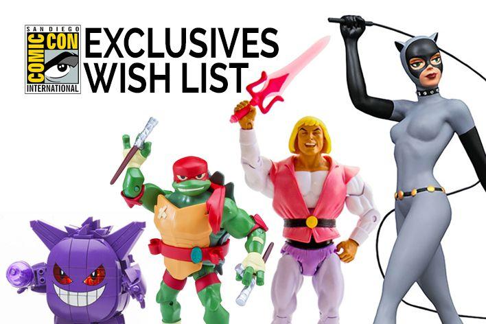 SDCC 2018 Exclusives Wish List