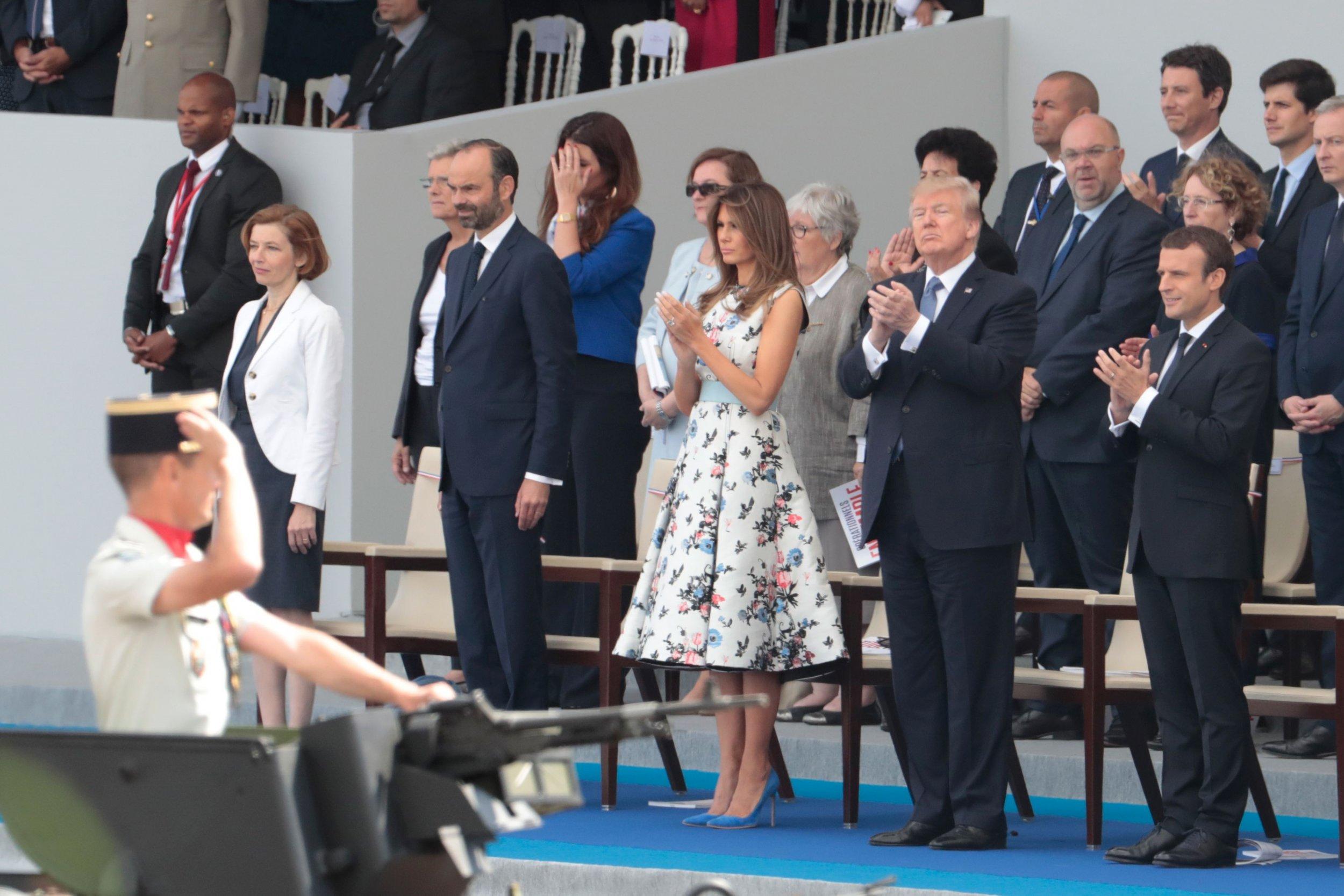 Trump Macron Bastille Day