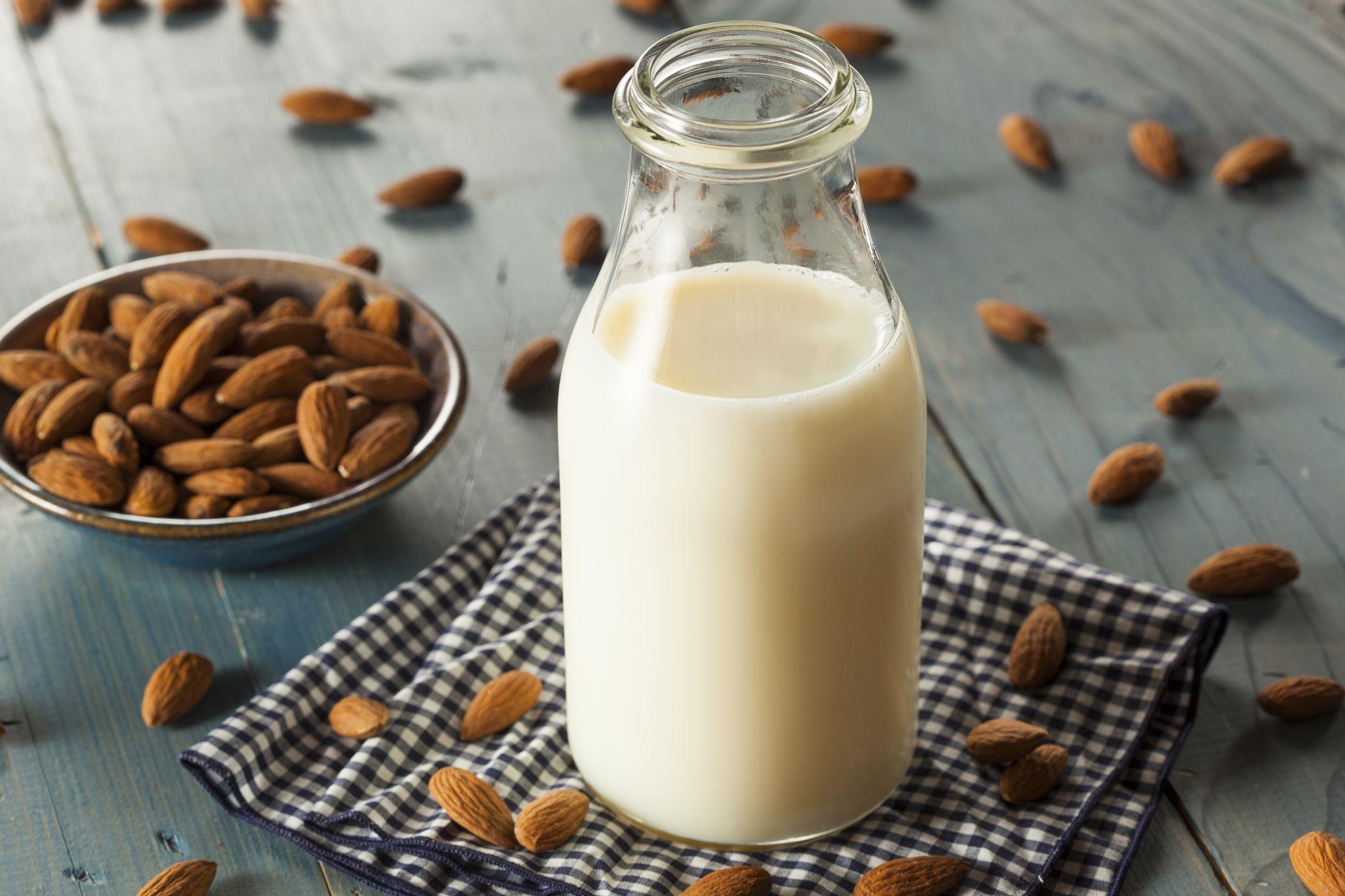 milk-almond-nut-dairy-stock