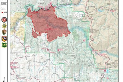 ferguson fire map july 19
