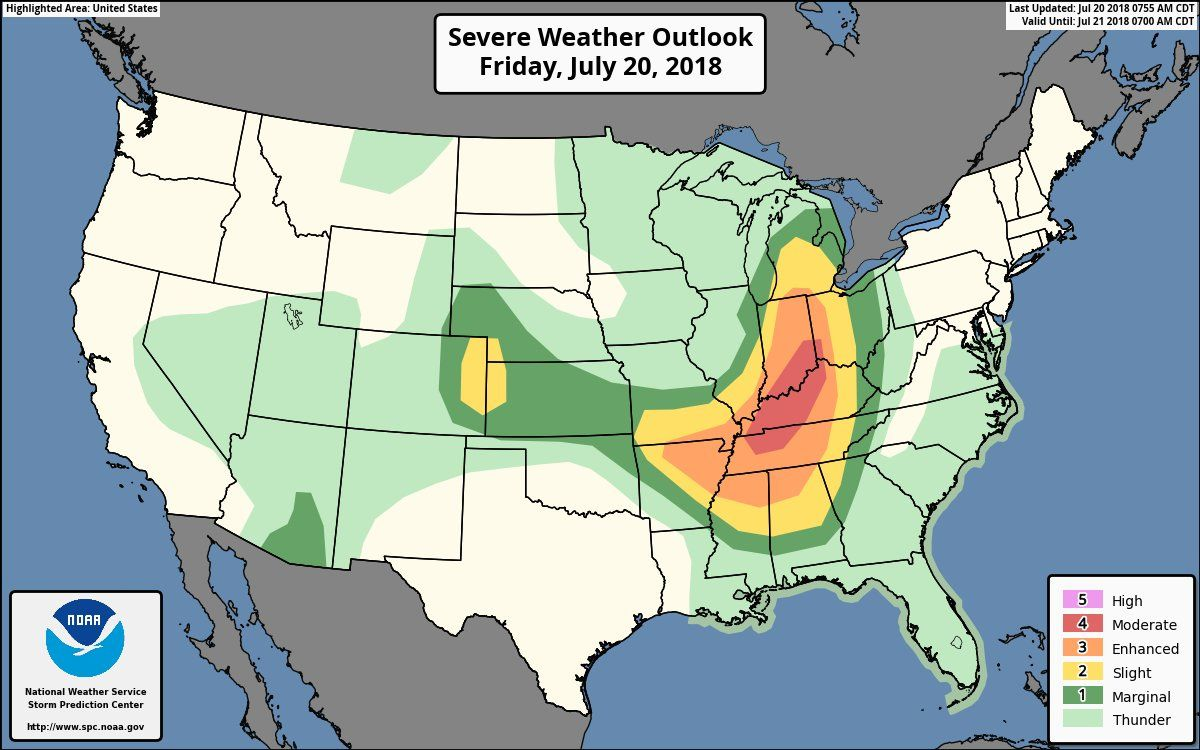 Tornado Touches Down in Indiana, Severe Thunderstorm Watches Issued ...