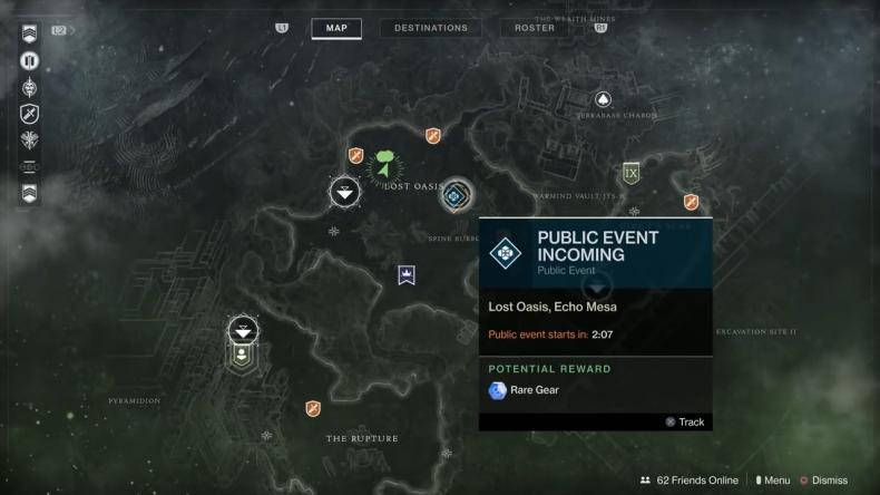 Destiny 2 lost oasis map