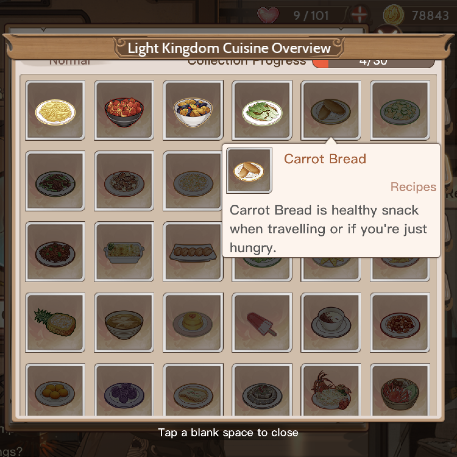 Food Fantasy' Recipes Guide: Complete List of Dishes and