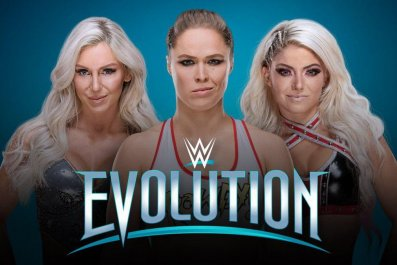 wwe evolution ronda rousey charlotte alexa bliss