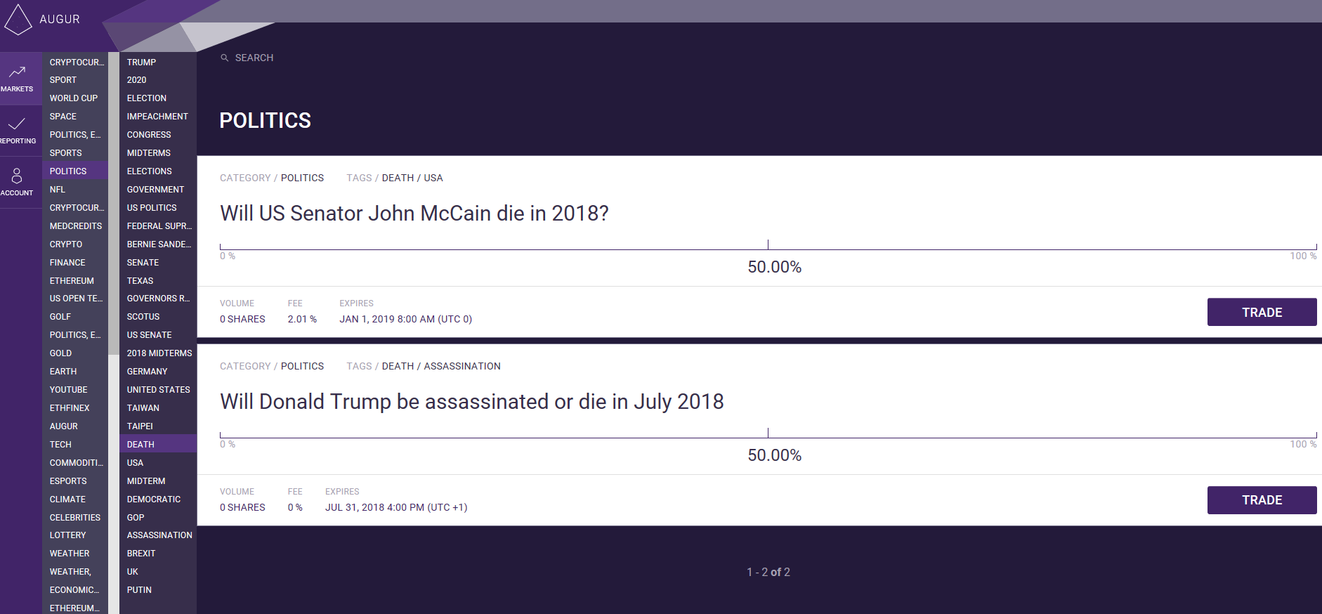 Augur Screenshot