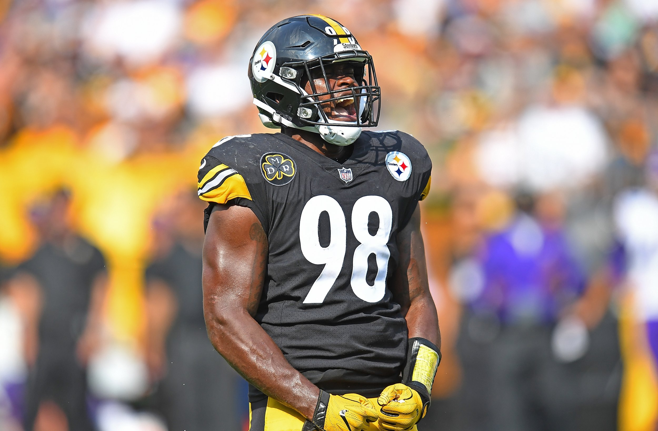 size 40 72317 e5bb1 Video: Steelers LB Vince Williams Shows up at Training Camp ...