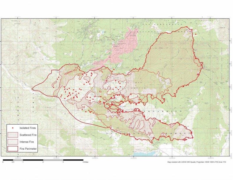 Cranston Wildfire Perimeter Map