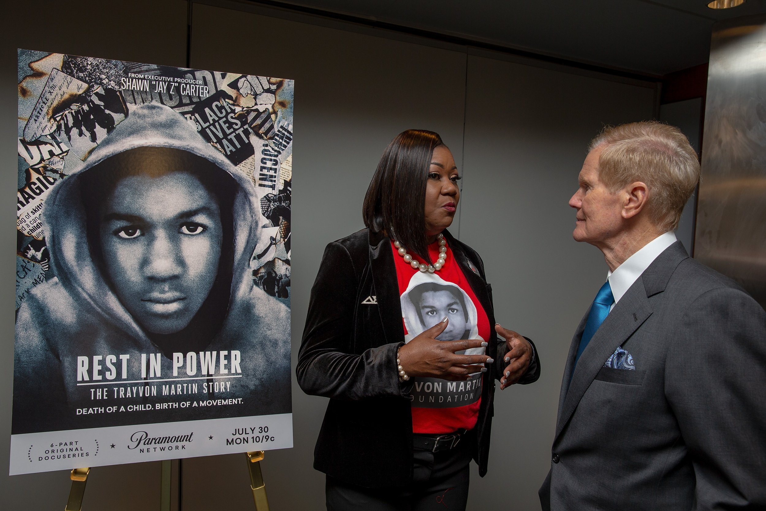 Sybrina Fulton and Senator Bill Nelson