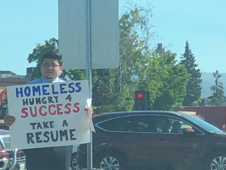 Homeless man pic