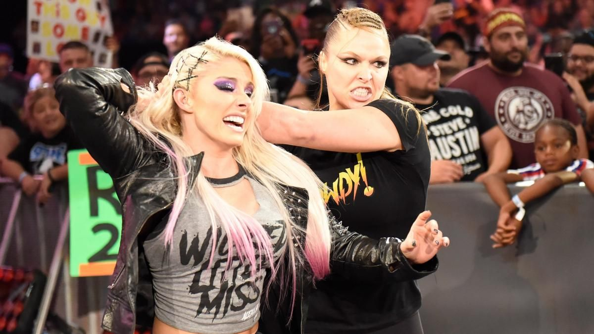 alexa bliss and ronda rousey monday night raw july 16