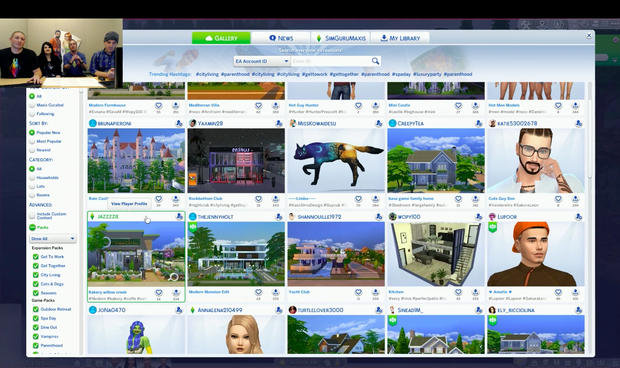 the sims 4 new gallery update july 31 patch notes
