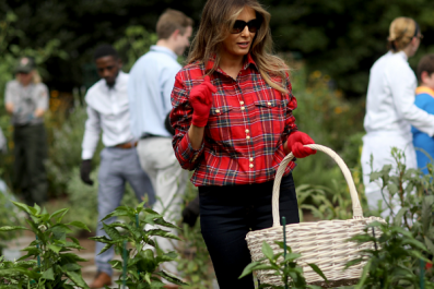 Melania Trump's Gardening Photo Becomes Twitter Meme