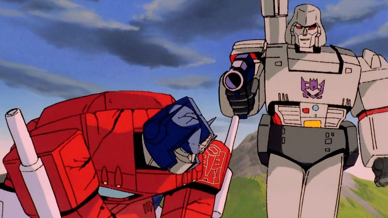 The transformers the movie returns from 1986 - Transformers cartoon optimus prime vs megatron ...