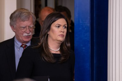 Sarah Huckabee Sanders media enemy of the people
