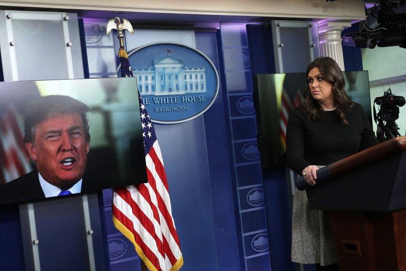 Press secretary Sarah Sanders is accused of violating the Hatch Act
