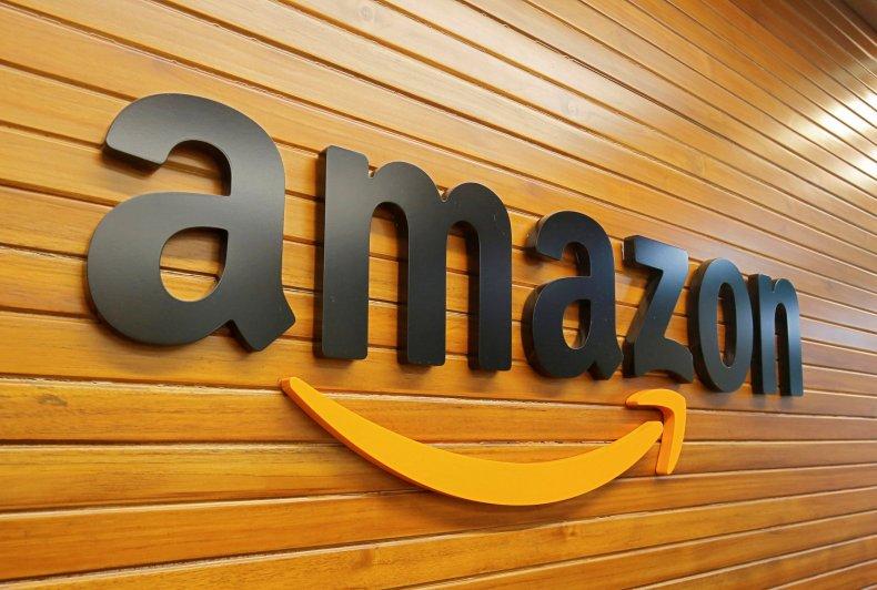 The logo of Amazon