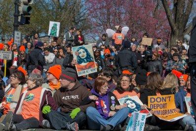 Pro DACA Demonstration outside capitol