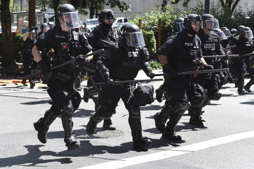 Patriot Prayer Members Armed With Snipers Positioned