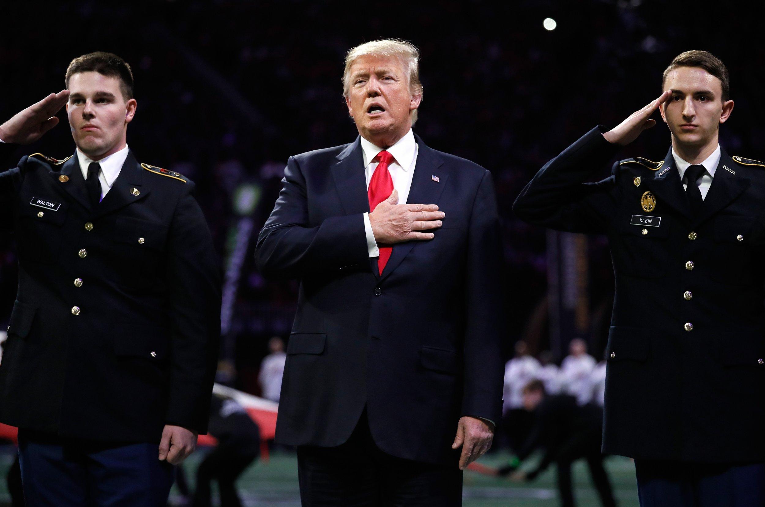 Donald Trump national anthem protests, gun control